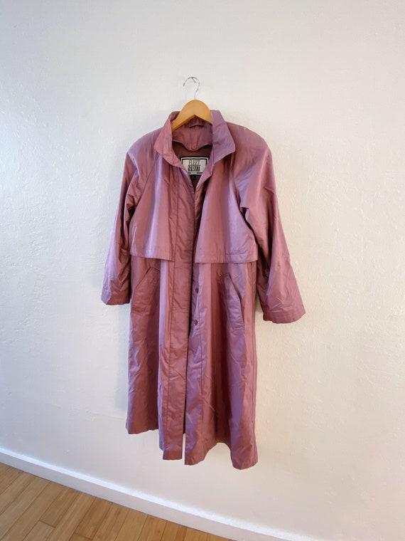 Vintage 80s Dusty Mauve Raincoat