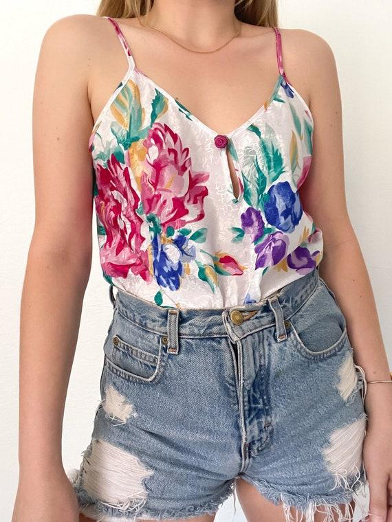 Vintage 90s Floral Print Slip Dress - image 7