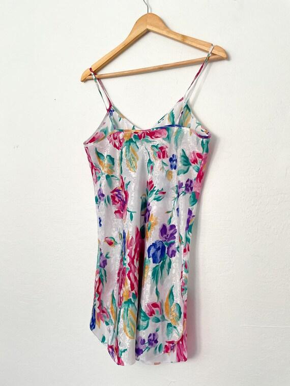 Vintage 90s Floral Print Slip Dress - image 4