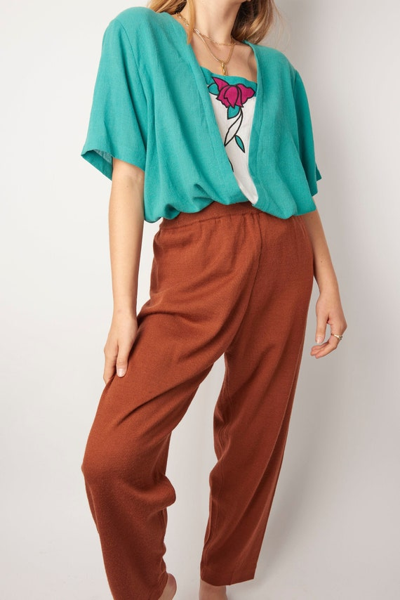 Vintage 1970s Clay Knit Lounge Pants
