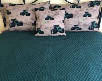 John Deere bedding set, John Deere bedding, John Deere blanket, John Deere pillow cases, John Deere throw pillow cover, tractor bedding