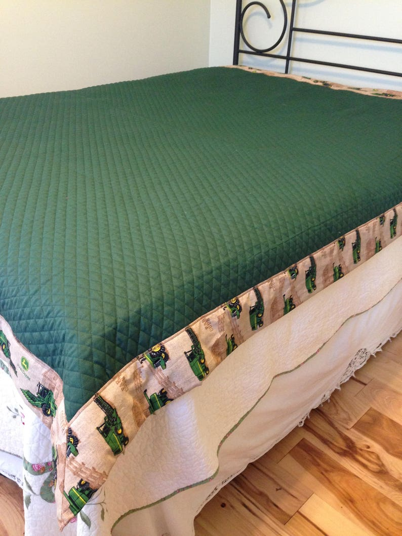 John Deere quilt, John deere bedding, John Deere blanket, John Deere  bedroom decor, John Deere full size bedding, John Deere bedding set