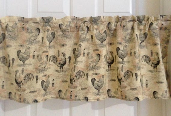 Rooster valances, country decor, country curtains, rooster decor, country  kitchen valances, farm kitchen curtains, kitchen decor, home decor