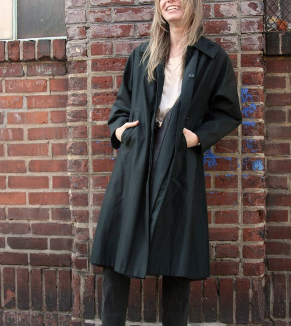 Swing Out / 1940's 40s Swing Coat /Black  Trapeze