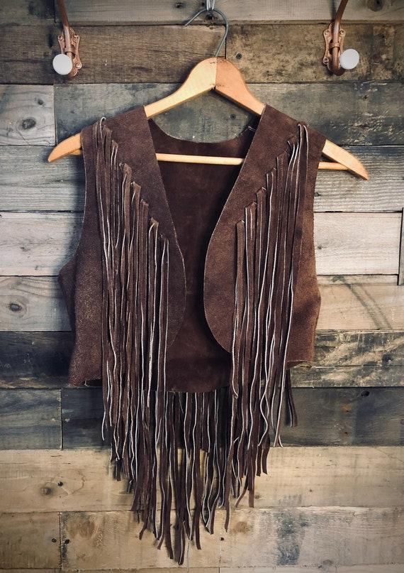1960's Suede Fringe Vest - Handmade