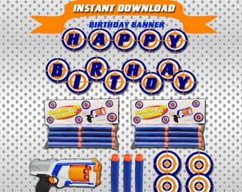 picture about Nerf Targets Printable referred to as Nerf gun ambitions Etsy