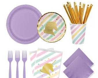 Unicorn Party, Unicorn Favor Bags, Unicorn Birthday Party, Unicorn Plates, Unicorn Cups, Girls Party Ideas