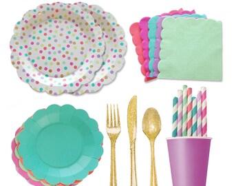 Polka dot Party, Polka dot Birthday, Flower Party, Princess Party, Sprinkle Birthday, Girls Birthday Ideas, Unicorn Party