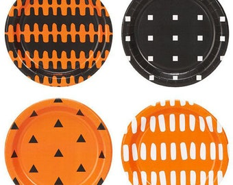 halloween plates halloween halloween party halloween party decor orange plates black plates halloween dessert plates costume party