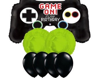 Gamer Birthday Party Xbox Remote Control Balloon Video Game Balloons Ideas
