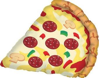 "25"" Pizza Balloon, Pizza Party, Pizza Birthday, Giant Pizza Balloon"