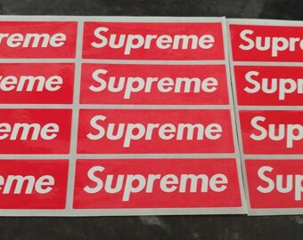 Supreme Stickers Small Red Block x 12
