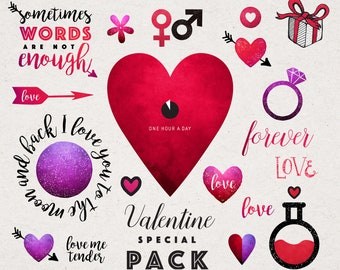 Valentines Day Clipart | Love Clipart | Heart illustration png