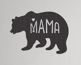 Mama bear svg | dxf | png | cut file