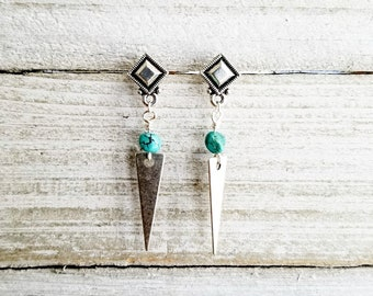 Turquoise Post Dangles