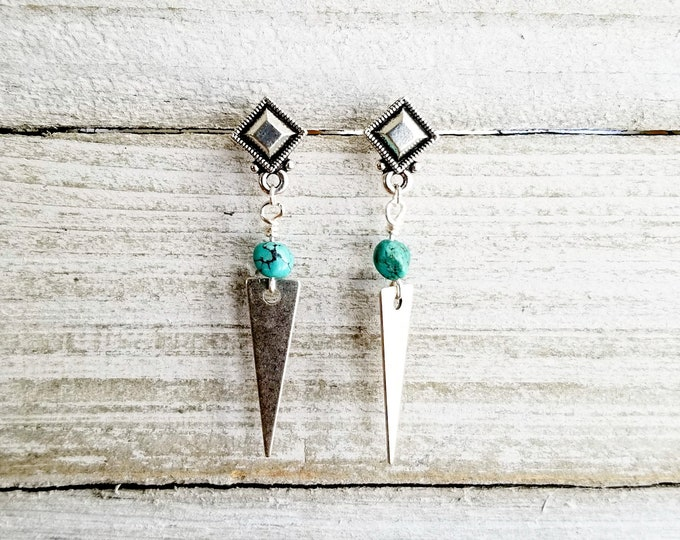 Featured listing image: Turquoise Post Dangles