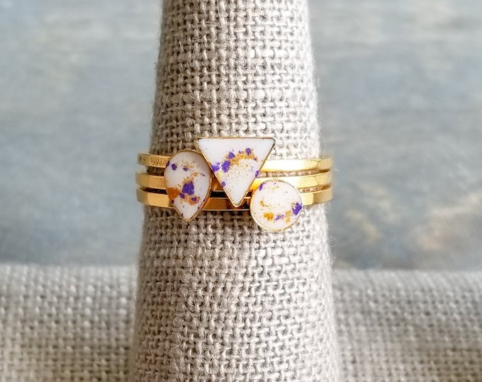 Featured listing image: Gold Stacking Rings