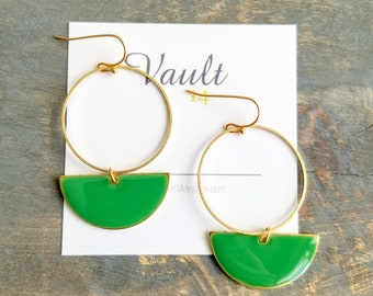 Roselyn Earrings - Green