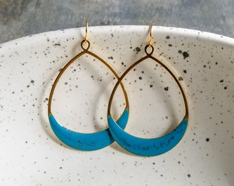 Carly Earrings - Turquoise/Silver
