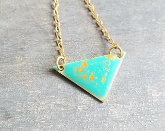 Poppy Necklace - Gold/Turquoise