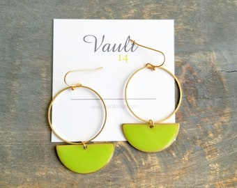 Roselyn Earrings - Lime Green