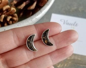 Silver & Shimmer Moons - Black