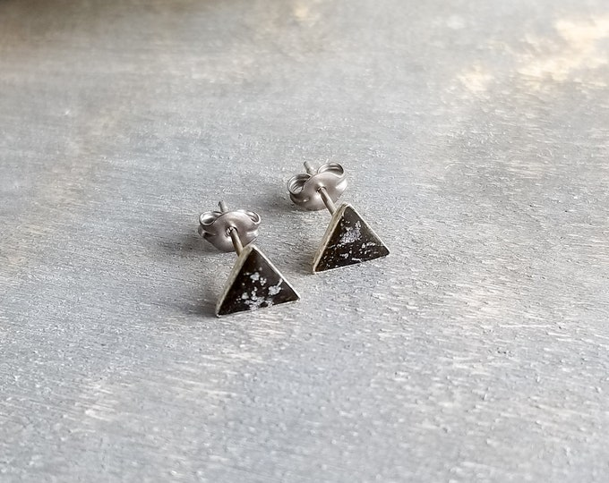 Itsy Bitsy Triangles - Silver/Black