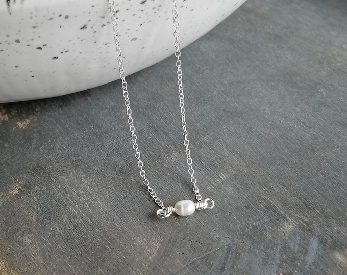 Silver & Pearl Choker