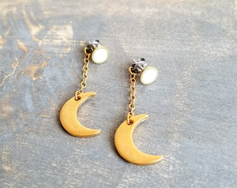 Behind The Moon Earrings