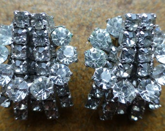 Sparkly Diamante clip on earrings - Continental - Quality Jewellery - Costume Jewellery - Bling