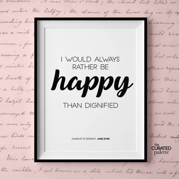 Quote From Jane Eyre Quotes Jane Eyre Prints Jane Eyre Poster Charlotte Bronte Art Bronte Wall Decor Poster Jane Eyre Wall Art Jane Eyre Art