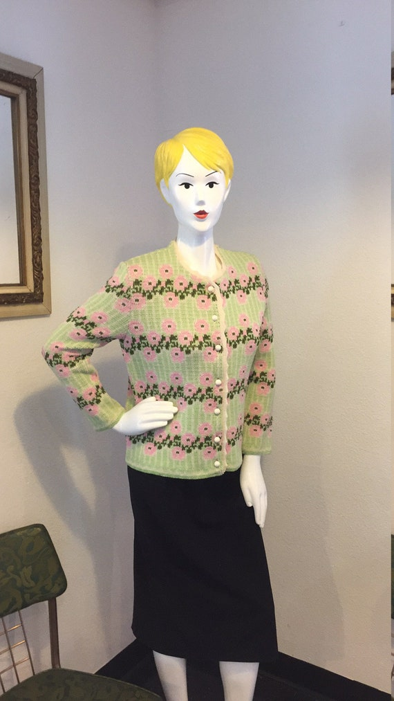 Vintage Sweater Catalina JacQuard Size 38.