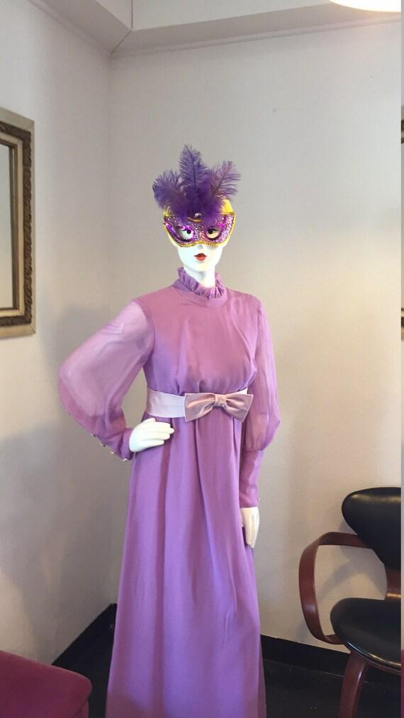 Vintage Lilac Maxi Dress