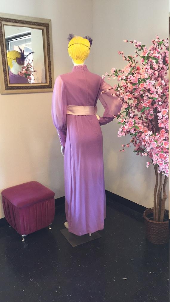 Vintage Lilac Maxi Dress - image 7