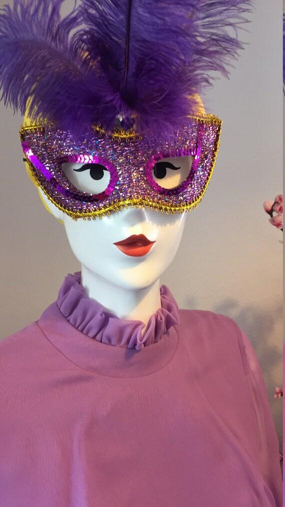 Vintage Lilac Maxi Dress - image 4