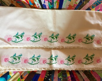 Hand Stiched Vintage Pillow Cases. Never Used