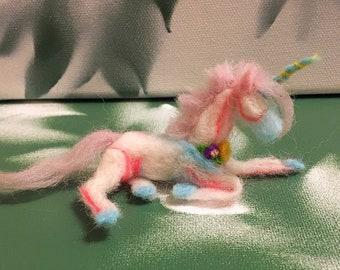 Needle Felted Fantasy Unicorn