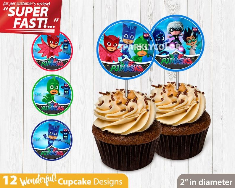 Pj Masks CUPCAKE TOPPERS Catboy Birthday Cupcake