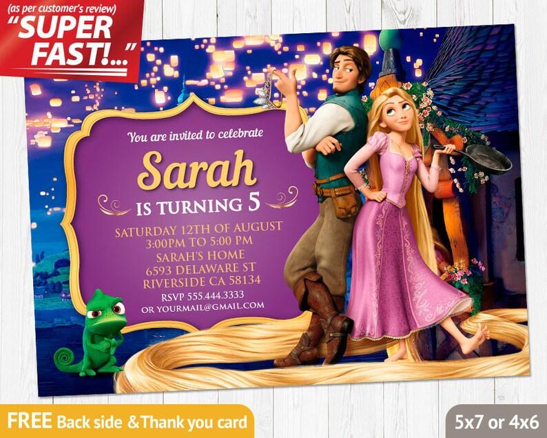 Rapunzel Invitation PRINTABLE Birthday