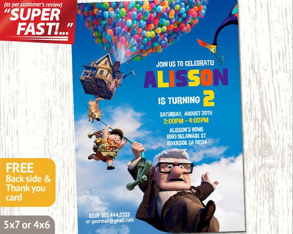 Up Movie Invitation Printable Birthday