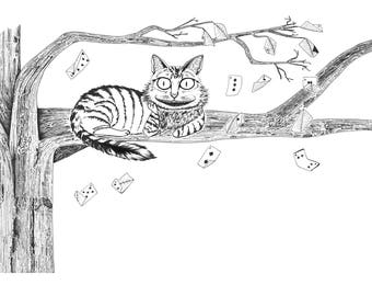 Cheshire Cat - 5 x 7 in greeting card