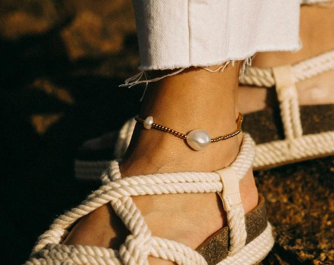 Johanna Pearl Anklet