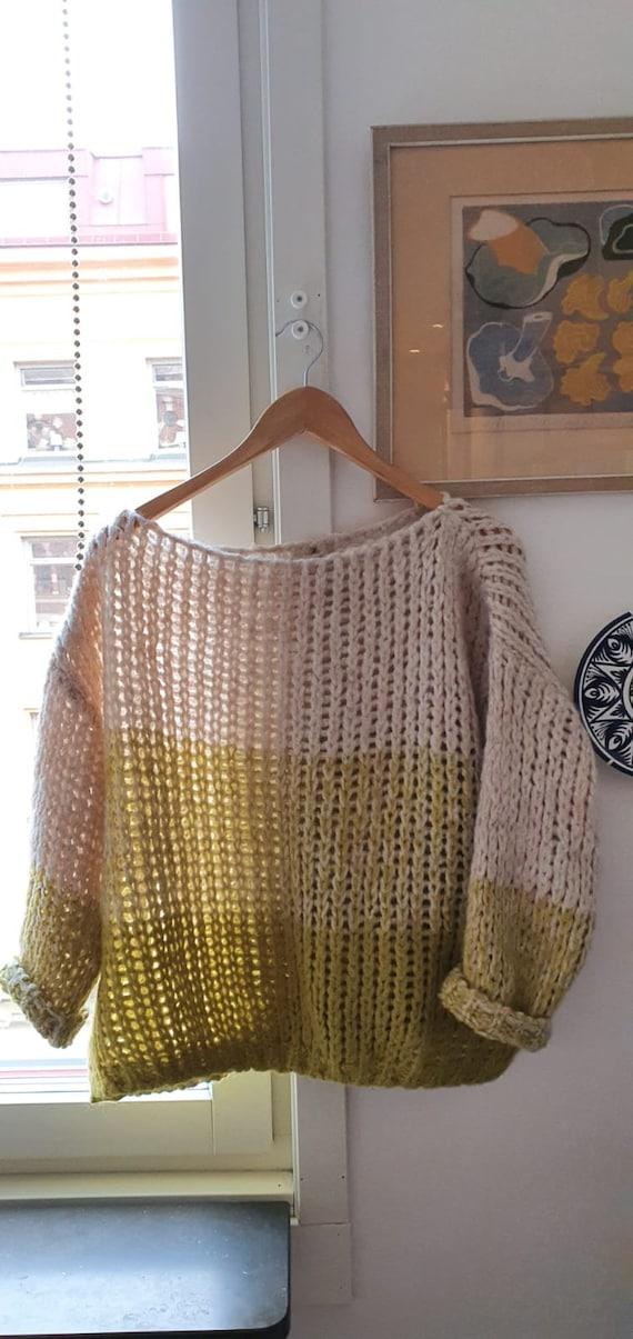 Vintage mixed wool crochet sweater