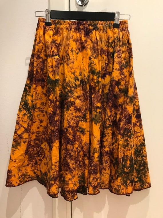 Vintage Tye dye handmade skirt