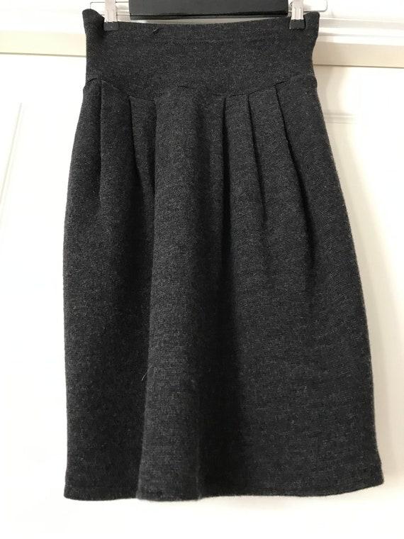 Wool vintage high waisted skirt