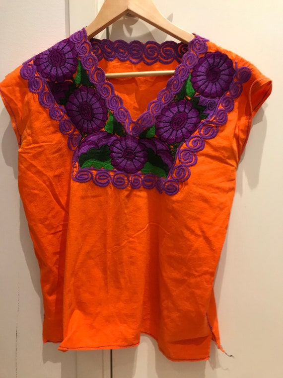Mexican embroidered top