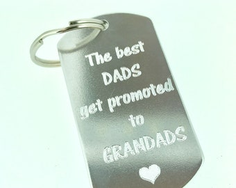 recycled aluminium keyrings cut and engraved by hand