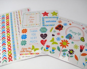 Items similar to Sweet kawaii macarons planner stickers 2 sheets cute illustrations & quotes on Etsy