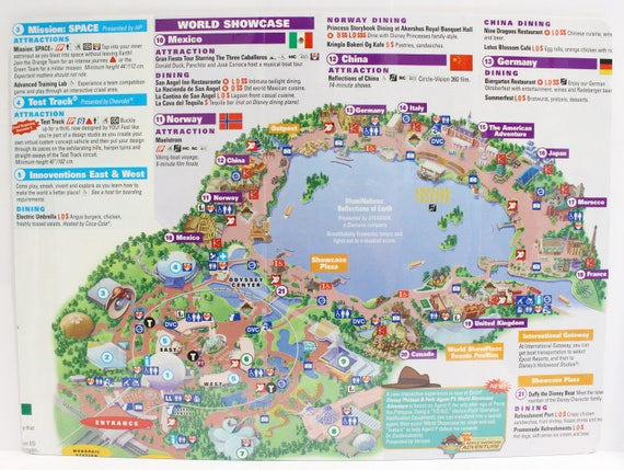 Disney World Map Placemats Set of 4 with all parks