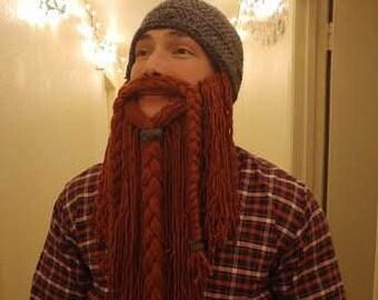 Rugged Viking Beard Beanie - Viking Beanie - Lumberjack Beanie - Beard  Beanie - Viking Beard Hat - Crochet Viking Beanie 28215bb4a1